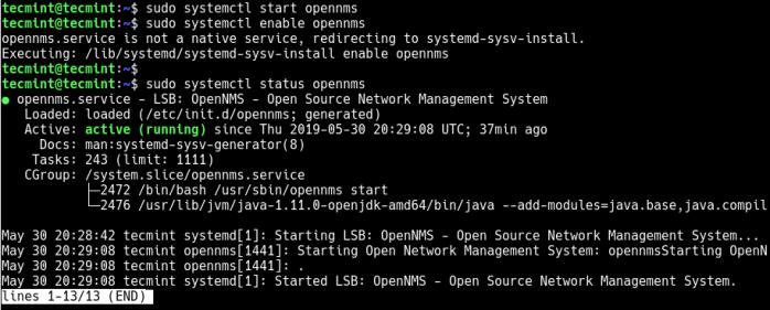 Start and Verify OpenNSM Service