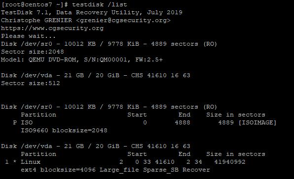 TeskDisk Check Partitions