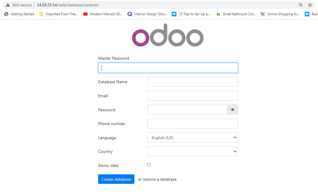 Configuração do Odoo no CentOS 8