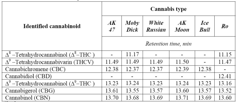 % THC Cannabis sativa