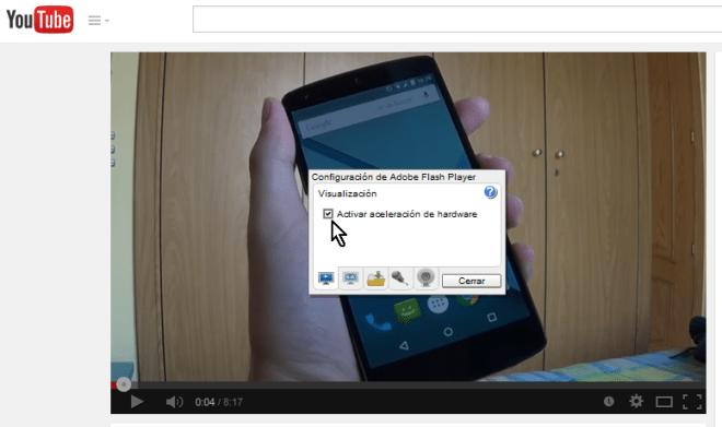 Cómo arreglar videos que se reproducen en cámara lenta - Imagen #3 - Desmarcar la opción de aceleración de hardware
