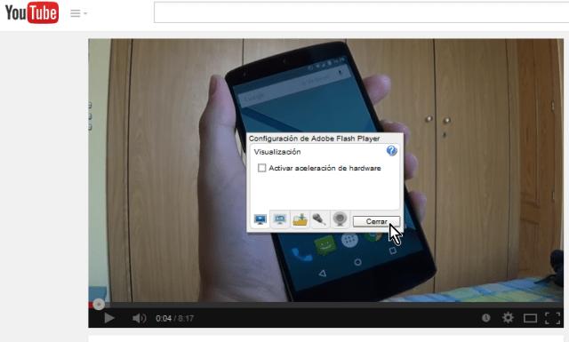 """Cómo arreglar videos que se reproducen en cámara lenta - Dale clic al botón """"Cerrar"""""""