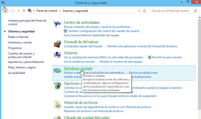 Cómo elegir la configuración de las actualizaciones de Windows - Seleccione Windows Update