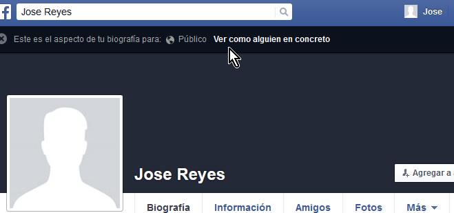 Cómo ver tu perfil de Facebook como otra persona lo ve - Ver como alguien en concreto