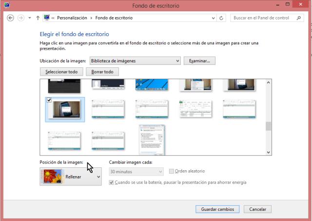 Cómo ajustar la imagen de fondo del escritorio de Windows - Pantalla de Fondo de escritorio