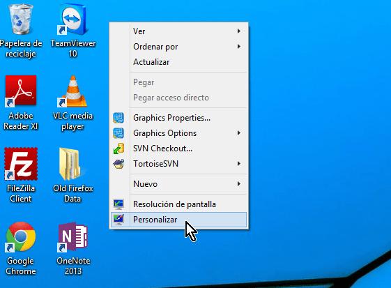 """Cómo cambiar el protector de pantalla en Windows - Dale clic a """"Personalizar"""""""