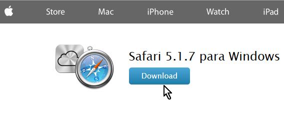 Para descargar el navegador Safari para Windows en español
