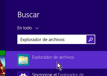 Buscando el Explorador de archivos en cómo acceder al explorador de Windows 8