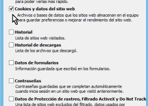 Cómo borrar cookies en Internet Explorer