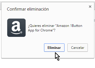 Confirmando eliminación de extensión Cómo desinstalar extensiones de Google Chrome