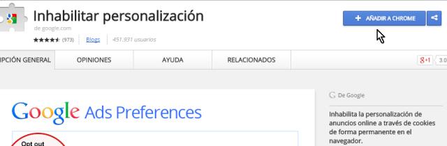 Botón para descargr e instalar una extensión en cómo instalar extensiones para Google Chrome