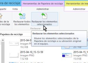 Cómo recuperar archivos borrados de la papelera en Windows 8