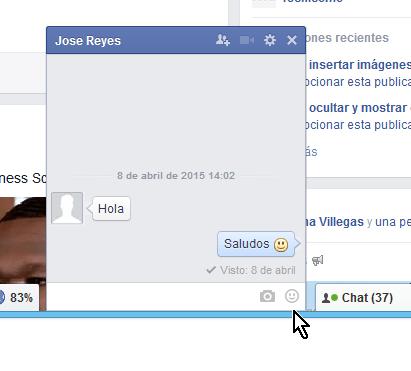Botón para acceder los stickers en cómo usar los stickers de Facebook