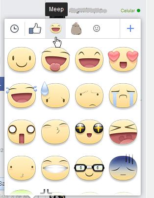 Stickers de Facebook de Meep o caritas grandes en cómo usar los stickers de Facebook