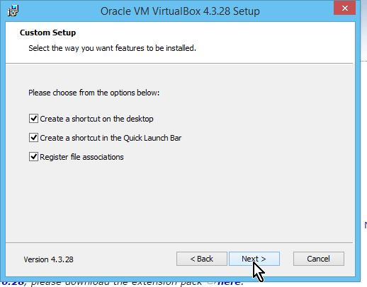 Casillas para crear accesos directos de VirtualBox en cómo descargar e instalar VirtualBox en español