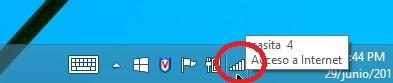 Botón con ícono de conexión de redes en cómo eliminar el perfil de una red Wi-Fi en Windows 8