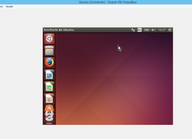 Pantalla completa chica en maquina virtual en cómo instalar los Guest Additions de VirtualBox en Ubuntu
