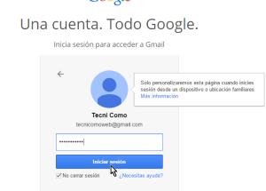 Cómo iniciar una sesión de Gmail
