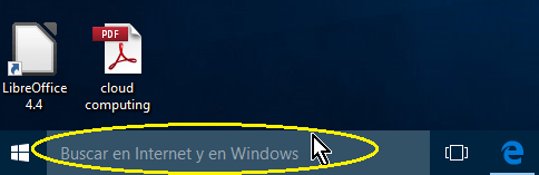 Cuadro de búsqueda en el Escritorios de Windows 10 en cómo ocultar el cuadro de búsqueda en el Escritorio de Windows 10