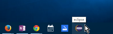 Icono del programa anclado desde el explorador de archivos en cómo anclar o desanclar programas en la barra de tareas en Windows 10