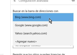Cómo cambiar el motor de búsqueda predeterminado en Microsoft Edge