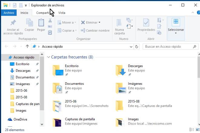 Acceso rápido del Explorador de archivos de Windows 10 en cómo acceder al Explorador de archivos en Windows 10