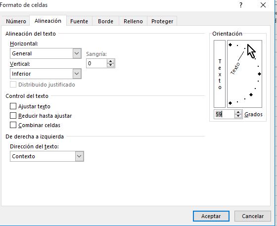 Control para manipular la orientación de forma manual