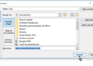 Cómo crear enlaces a páginas web en Word 2013