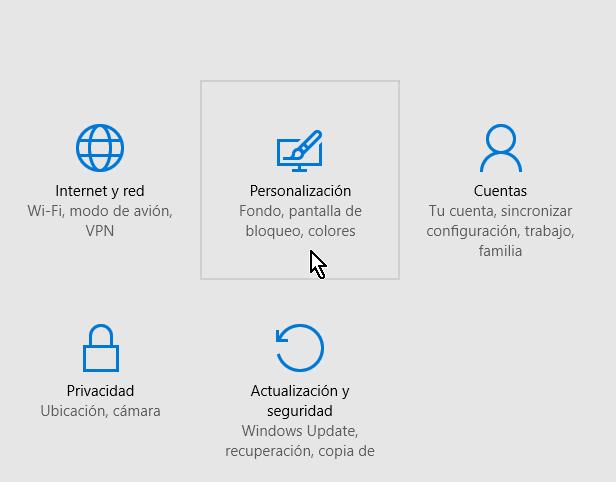 Botón Personalización en cómo obtener más temas para Windows 10 en línea