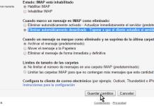 Botón Guardar cambios en cómo configurar el acceso IMAP en Gmail