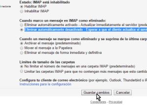 Cómo configurar el acceso IMAP en Gmail