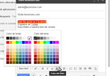Botón para cambiar el color del texto en cómo usar las opciones de formato en Gmail