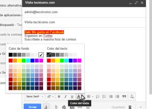 Cómo usar las opciones de formato en Gmail