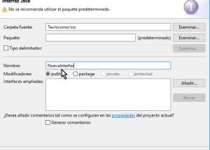 Cómo crear una interfaz de Java en Eclipse