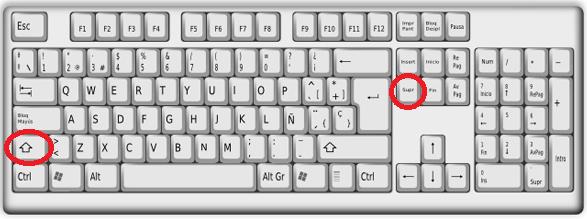 Combinación de teclas Mayúscula + Suprimir (Shift + Delete) para eliminar sugerencia en cómo eliminar una sugerencia de la barra de direcciones de Google Chrome