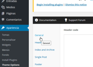 Cómo personalizar las opciones generales del tema FreshLife de WordPress