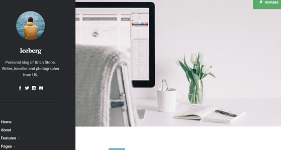 Plantilla Iceberg en temas premium de WordPress disponibles en español