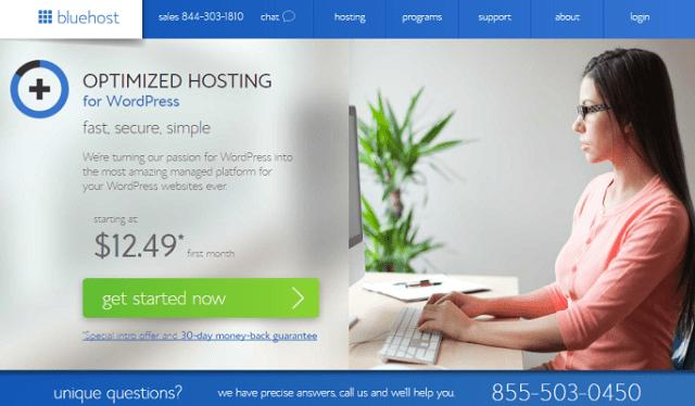 Análisis de los planes de hosting o alojamiento para WordPress de BlueHost