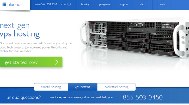 Análisis de los planes de servidores virtuales privados o VPS de BlueHost