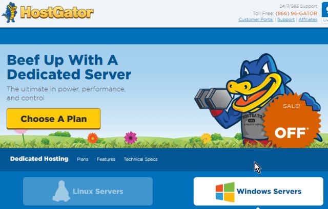 Análisis de los servidores dedicados Windows ofrecidos por HostGator