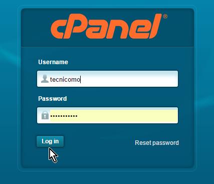 Entra tus credenciales para acceder el cPanel de HostGator