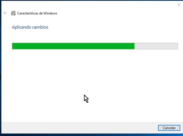 Windows aplicando los cambios en cómo habilitar VirtualBox 64 bits en Windows 10