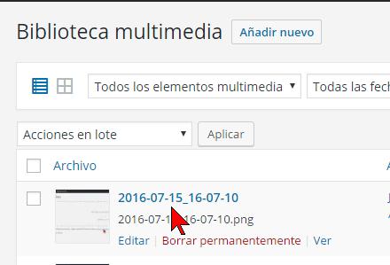 Imagen en la Biblioteca en cómo resolver el error HTTP al subir imágenes en WordPress