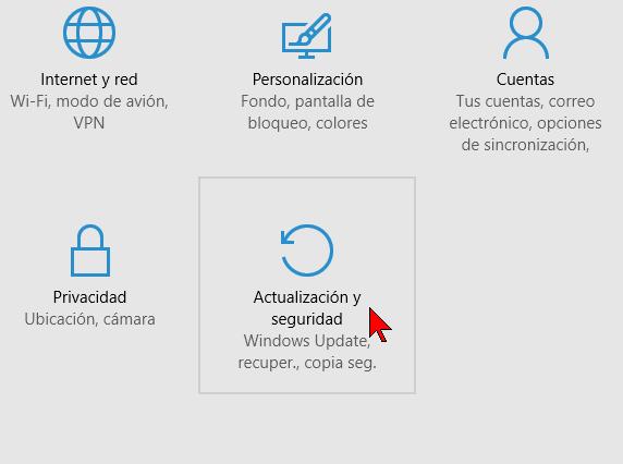 Actualización y seguridad en cómo configurar las actualizaciones automáticas de Windows 10