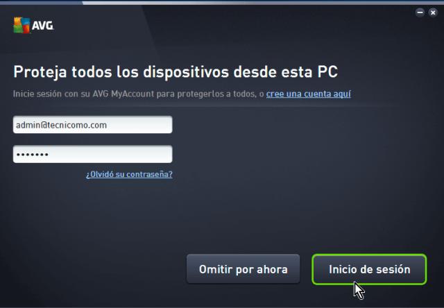 Creación de la cuenta de AVG en cómo descargar e instalar AVG Antivirus Protection gratis