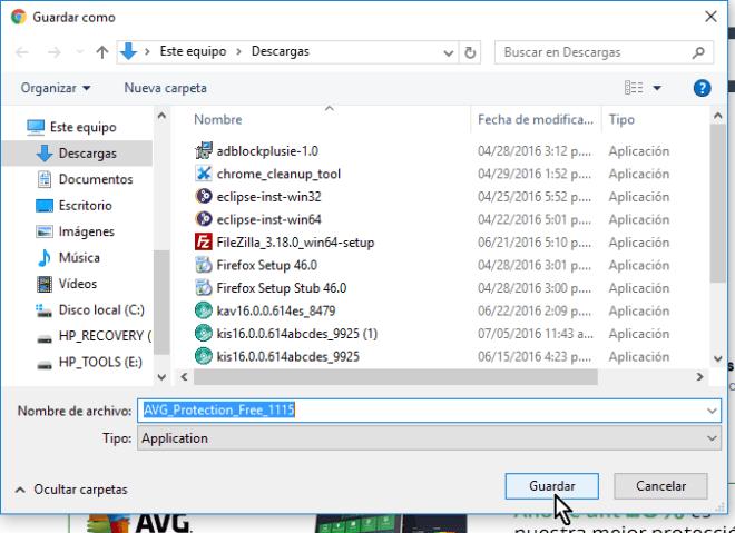 Explorador de archivos para guardar antivirus en cómo descargar e instalar AVG Antivirus Protection gratis