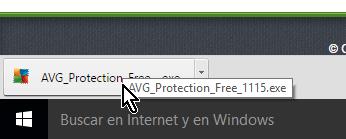 Haz clic en el antivirus descargado en cómo descargar e instalar AVG Antivirus Protection gratis