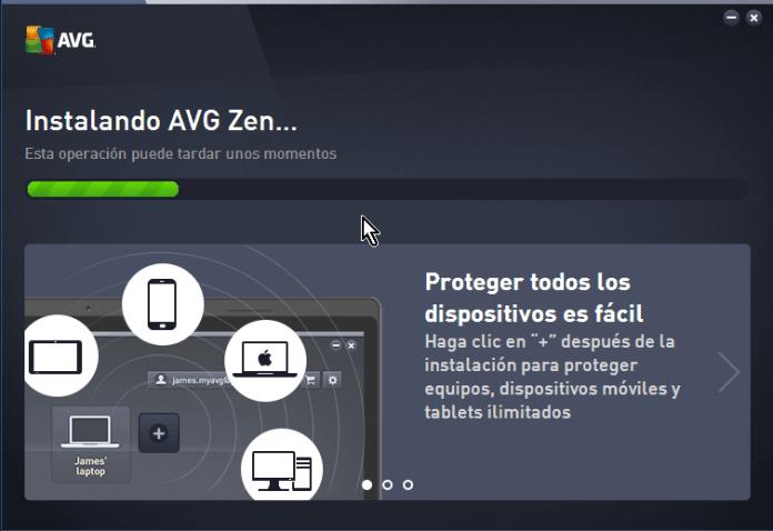 Barra de progreso de AVG gratis en cómo descargar e instalar AVG Antivirus Protection gratis