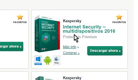 Enlace para comprar en cómo descargar e instalar el antivirus Kaspersky Internet Security - Multidispositivos 2016
