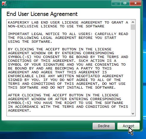 Licencia de uso en cómo descargar y usar Kaspersky Virus Removal Tool